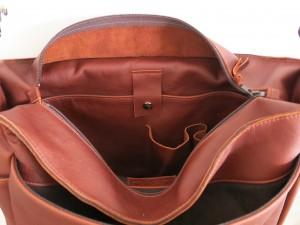 leather bag - inside back