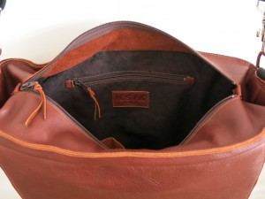leather bag - inside front