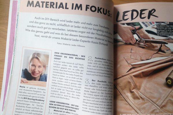 Ledertipps und ein super schnelles Leder-DIY im Makerist Mag #5