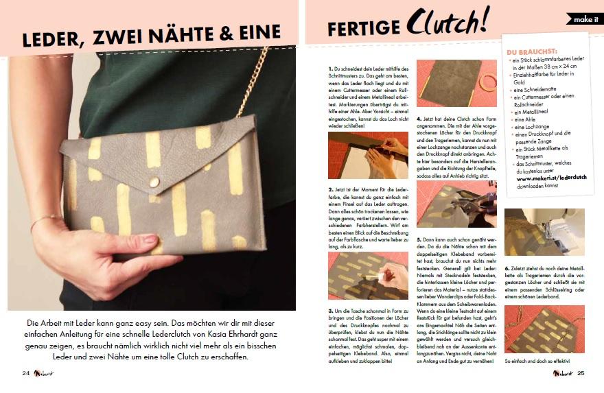 Anleitung Clutch nähen aus dem Makerist Mag #5